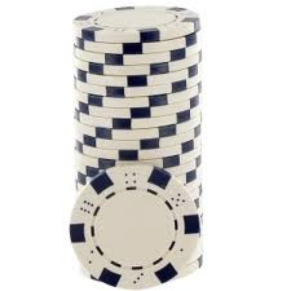 Jetons Poker Dice blancs
